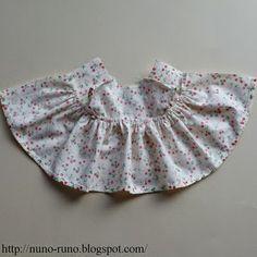 Agora vamos fazer o vestido da boneca, o original é do blog  Nuno Vida           Molde da parte de cima do vestido, meça na boneca o co...