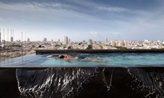 Tel Aviv Penthouse by Pitsou Kedem features a rooftop infinity pool Cool Swimming Pools, Best Swimming, Swimming Pool Designs, Tel Aviv, Villas, Malvern House, Pitsou Kedem, Infinity Pool, Luxury Penthouse