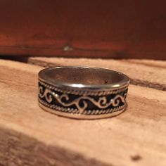 Vintage Scrollwork Ring Band Scroll Design Rope Ring Boho Hippie Gypsy Sterling Silver https://www.etsy.com/listing/257016337/vintage-scrollwork-ring-band-scroll?utm_source=socialpilotco&utm_medium=api&utm_campaign=api #ring