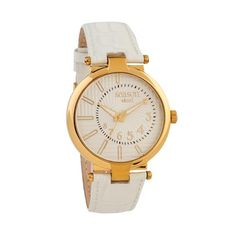 Gold Watch, White Leather, Seasons, Accessories, Seasons Of The Year, Jewelry Accessories