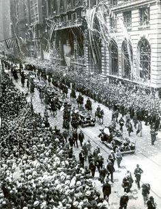 Vintage 1930, Admiral Richard E. Byrd Ticker Tape Parade, NYC, www.RevWill.com