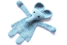 You can make this little elephant in any color and make a new best friend to any child! Even though the body is flat like a lovey, this animal will leave much more room for imagination and be a best friend to toddlers and even older children too.  This is an easy pattern which works up rather fast. Level: advanced beginner.  Materials -Dk weight yarn in blue or color of choice (260m), I used Scheepjes Stone Washed. -Crochet hook 3mm or D -Black safety eyes 12mm -Stuffing -Yarn needle and…