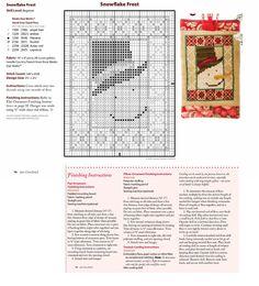 Cross Stitch XS Snowflake Frost Ornament, Just Cross Stitch Christmas Ornaments 2014, Vol. 32, No. 6 - Country Garden Stitchery