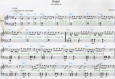 partition piano sugar maroon 5