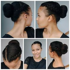 This style is basically a mix of two previous styles I've recently done and it's really simple. I braided the front half of my hair and then gathered all of my hair in a ponytail. I then created the bun by using an old shirt sleeve and rolling my hair over the sleeve and securing the ends of my hair with an elastic and bobby pins.  Most people use those foam donut thingys for their hair buns...but I am not most people.  haha.  #protectivestyles #naturalstyles #updo