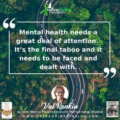Mental health needs a great deal of attention. It's the final taboo and it needs to be faced and dealt with. Peace In The Valley, Great Deals, Mental Health, Public, Author, Wellness, Face, Faces, Writers