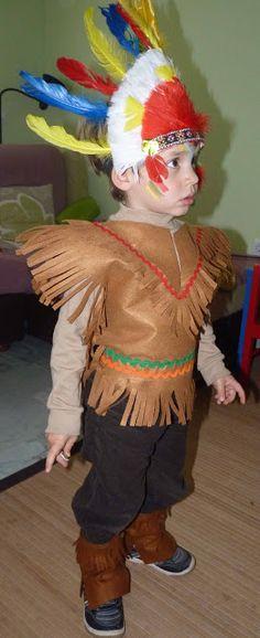 Las Cositas de Marga: Cómo hacer un disfraz de indio para niño paso a paso..