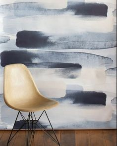 humemodern#eames fiberglass chair and #emmahayes river wallpaper. Great combo. Thanks #didge  Wallpaper sold at #walnutwallpaper