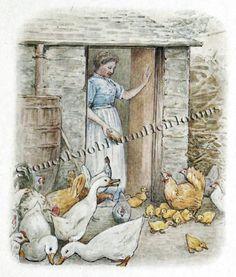 Jemima Puddle-Duck ~ Beatrix Potter ~ Counted Cross Stitch Pattern #StoneyKnobFarmHeirlooms #CountedCrossStitch