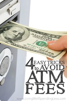 When you are trying to save money, every penny counts, and those $2 or $3 transaction fees here and there can really add up!  If you've ever found yourself being hit with those annoying penalties, you will not want to miss these 4 easy tricks to avoid ATM fees!
