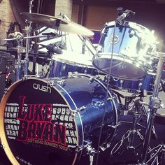 Backstage with Luke Bryan! What a good looking kit!