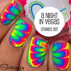 A Night in Vegas Cremes by Pipe Dream Polish (yes, I want all the neons in full size)