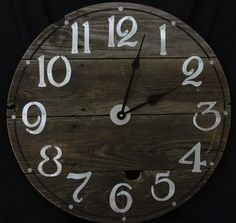 22 Inch RUSTIC RECYCLED Wall CLOCK from a by ClocksByHomestead, $89.00. Complete with a big knot hole, this clock was made from a discarded pier.
