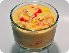 White Chocolate Ice Cream with Candy Corn M&Ms
