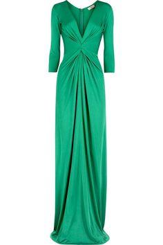 Dressy green maxi
