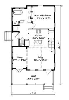 Hunting Island Cottage. 1364 sq. ft. Alternate main level