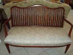 Bench? $75  Antique Bench, Tool Belt, Vanity Bench, Upholstery, Antiques, Furniture, Home Decor, Antiquities, Tapestries