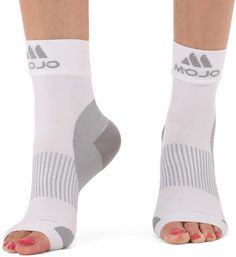 c1f82d7a8c9 White Open-Toe Fasciitis 30-40 mmHg Compression Socks - Adult Plantar  Fasciitis