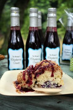 Homemade blueberry buckle and homemade blueberry syrup. So great in the summer! The Everyday Posh: Posh Picnic Blueberry Picking Party