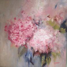 Profumo di fiori, olio su tela 50x50