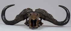 handmade cape buffalo scull in Bronze