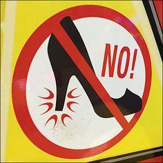 Chuck E Cheese No-High-Heels Safety Warning