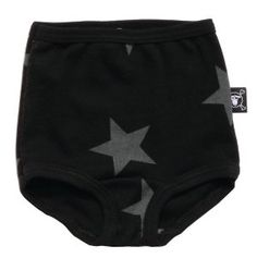 Nununu Baby Black Star Underwear from the Summer 2014 range is now available for pre-order at www.alittlebitofcheek.com.au for international delivery