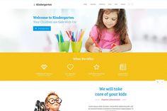 Kindergarten Website Template HTML Html Website Templates, Template Site, Childcare Website, Bootstrap, Welcome To Kindergarten, Training Center, Take Care Of Yourself, Pediatrics, Elementary Schools