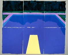 Fall Pool w/ Two Flat Blues, 1978 colored and pressed paper pulp 72x85 1/2 in.