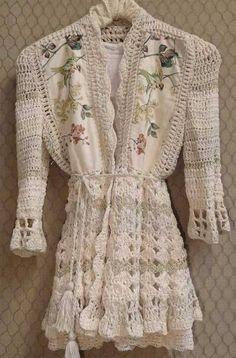 Crochet Coat, Crochet Fabric, Crochet Jacket, Crochet Cardigan, Love Crochet, Crochet Shawl, Crochet Clothes, Crochet Patterns, Couture