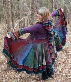 bespoke sweater coat...not sure i'd wear it, but it sure is pretty!