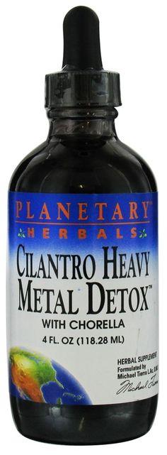 Planetary Herbals - Cilantro Heavy Metal Detox With Chlorella - 4 oz.