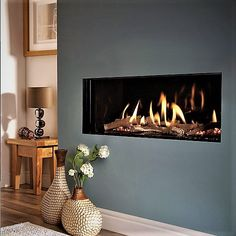 Good Pics Fireplace Hearth height Tips Sale now only ! EDEN HE Trimless High Efficient Hole In The Wall Gas Fire Reference: Small Fireplace, Fireplace Hearth, Modern Fireplace, Fireplace Design, Gas Fireplaces, Gas Stove Fireplace, Black Fireplace, Fireplace Ideas, Contemporary Gas Fires