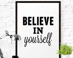 Motivational Wall Art, Home Room Design, House Rooms, Believe In You, Inspirational, Words, Horse