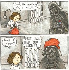 Vader's Little Princess - Helmet Cozy: