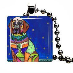 Dog Pendants  Dog Jewelry Black Mouth Cur by HeatherGallerArt, $28.00