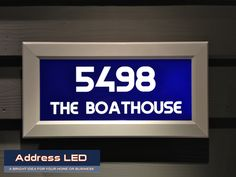 Pictures Of Illuminated Street Address Signs Led Lighted Numbers Can Be Installed Using Simple Hand Tools