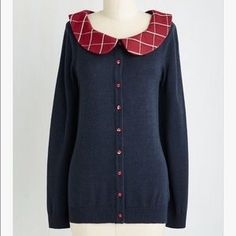 ($25 - inclusive of US shipping) ModCloth Sweaters - Dual and the Hang Cardigan in Navy XL Modcloth