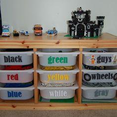 Lego Organization idea (pretty good one, too!) - photo via Homedit on fb