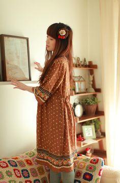 tunic peasant dress