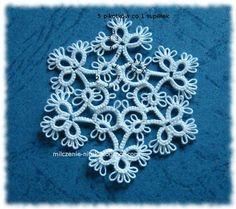 Milczenie nitek: Schemat śnieżynki - tatting pattern