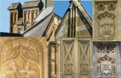 Gothic Blind tracery (ornamental work of interlaced and branching lines carved on solid walls) at Sydney University