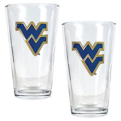 West Virginia University Mountaineers 2-pc. Pint Ale Glass Set, Multicolor