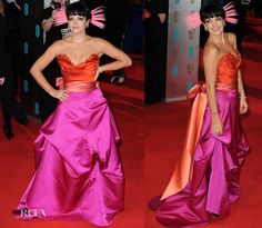 love the color combo...Lily Allen in Vivienne Westwood | 2014 BAFTAs
