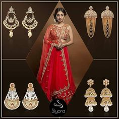 Earrings are a must for every occasion. Stocked up with exclusive traditional earrings. To order whatsapp +9769714221.  #siyora #siyoraforyou #jewellery #traditional #weddings #functions #bridal #bridetobe #stylish #fashion #fashionable #colours #festive #earrings #thursday #bollywood #replica #bollywoodfashion #longearrings #goldplated  #justforyou
