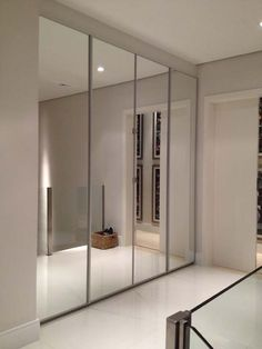 Frameless Mirrored Closet Doors Savoy Steel White 71 In. X 80 1/2