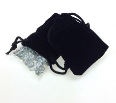 Soft Smooth PURPLE Velvet Drawstring Pouches SMALL Jewellery Wedding Pouch Bag