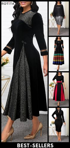 Best Selling Black Party Dresses Big Sale For New Years . Read more The post Best Selling Black Party Dresses appeared first on How To Be Trendy. Stylish Dress Designs, Designs For Dresses, Stylish Dresses, Elegant Dresses, Beautiful Dresses, African Dresses For Kids, Latest African Fashion Dresses, Women's Fashion Dresses, Kurti Neck Designs