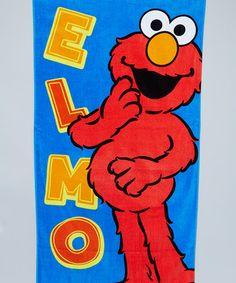 Another great find on #zulily! Blue Elmo Beach Towel by Island Gear #zulilyfinds
