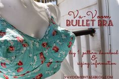 The Va-Voom Bullet Bra Sew-Along- Day 1 FREE Pattern Download and Sizing | Va-Voom Vintage with Brittany